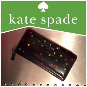 Kate Spade ♠️ Navy Confetti Multicolored Wallet